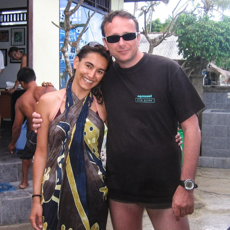Avec Peter, mon buddy à World Diving (Nusa Lembongan).