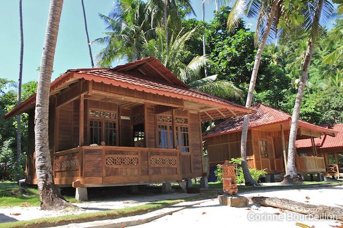 My bungalow at Murex Bangka Resort. Sulawesi, Indonesia. July 2010.