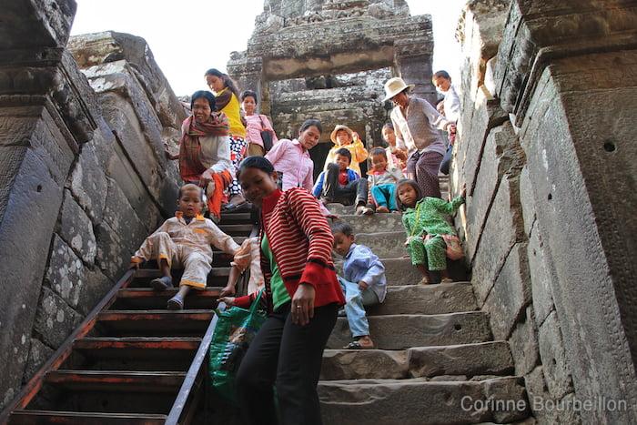 At Bayon. Cambodia, February 2011.