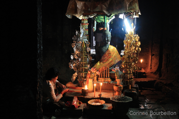 Au Bayon. Cambodge, février 2011.