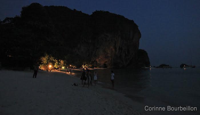 Phra Nang Beach by night. Krabi, Thailand, February 2011.