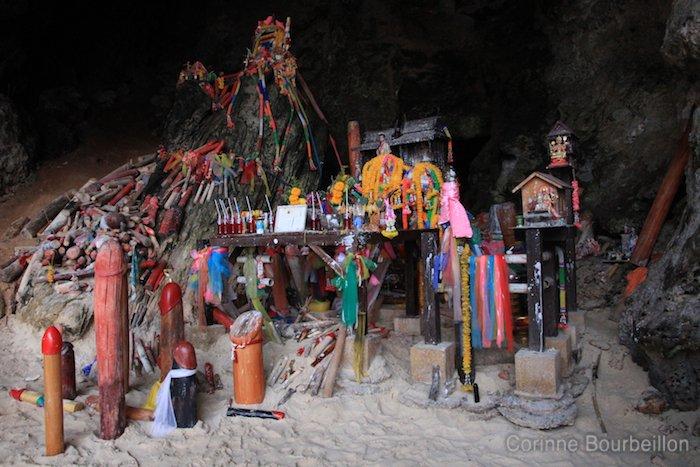 Pharaoh Cave Phra Nang Beach. Krabi, Thailand, February 2011.
