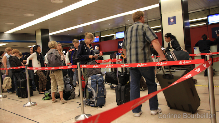 Check-in. Paris - Kuala Lumpur sur Air Asia X.