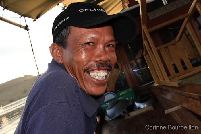Le capitaine du Pascha. Croisière-plongée à Komodo (Flores, Indonésie). Juillet 2011.