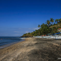 Black sand beach, in the Amed region. (Bali, Indonesia, July 2011)