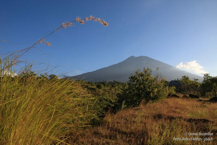 View of Gunung Agung from Tulamben. (Bali, Indonesia, July 2011)