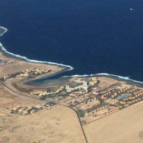 La Mer Rouge vue d'en haut, dans le sud de l'Égypte. Novembre 2011.