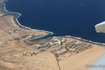 The Red Sea seen from above, in southern Egypt. November 2011.