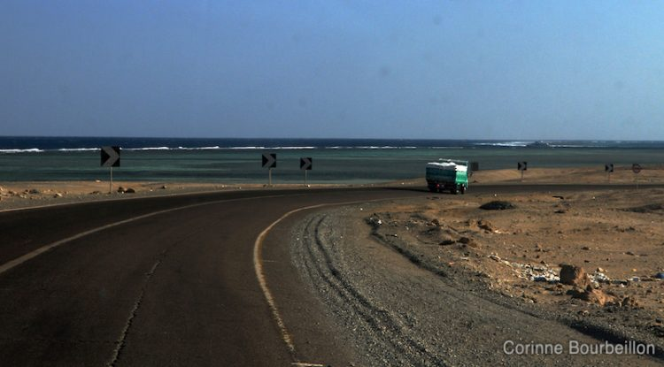 The road between Marsa Alam and Hamata. Egypt, November 2011.