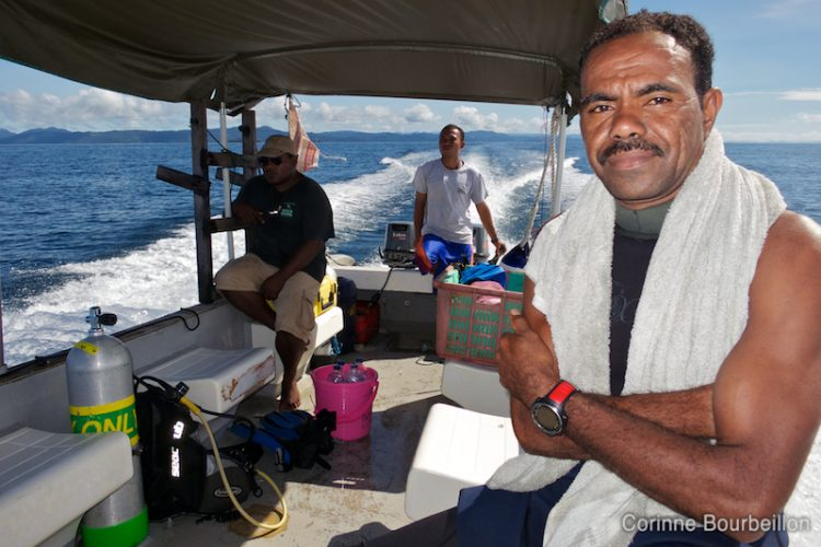 Natan, my super papuan guide, at Sorido Bay Resort on the island of Kri. Raja Ampat, Papua Barat, Indonesia. March 2012.