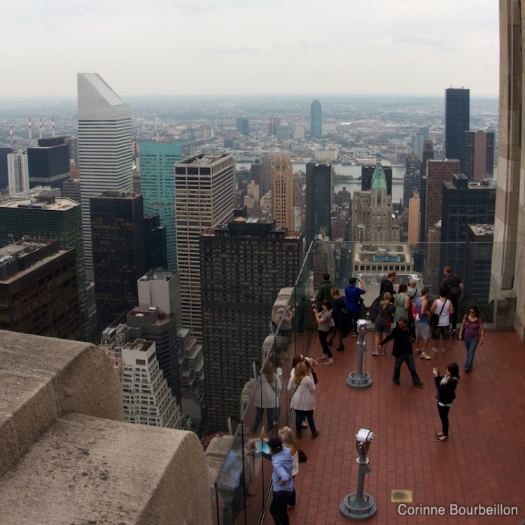 Manhattan. View from the top of Rockefeller Center. (New York, May 2012.)