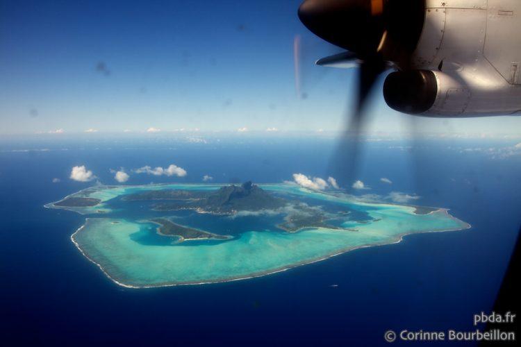 Bora Bora from the sky. Polynesia. October 2012.