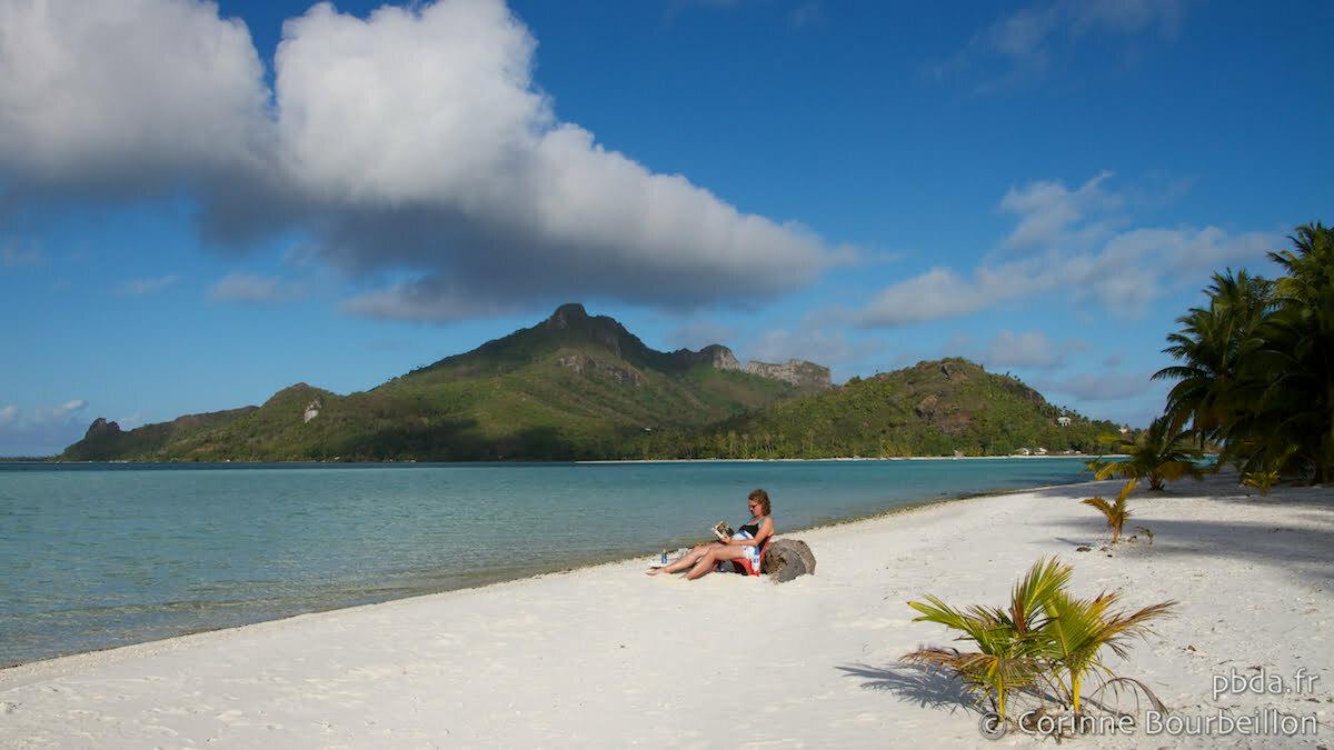 Motu Auira. Maupiti, Polynésie. Octobre 2012.