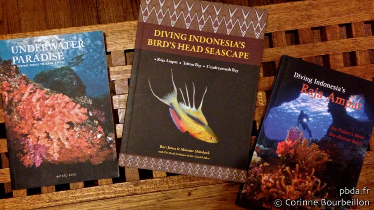 Three books on diving in Raja Ampat.