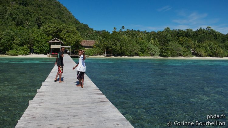 Sorido Bay Jetty, Kri Island, Raja Ampat. Papua, Indonesia, March 2012.