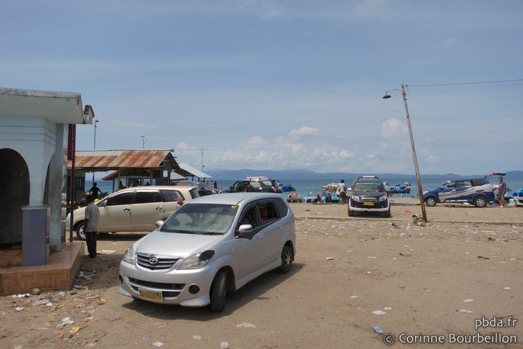 The parking of the landing stage of Sofifi. Halmahera, Indonesia, March 2013.
