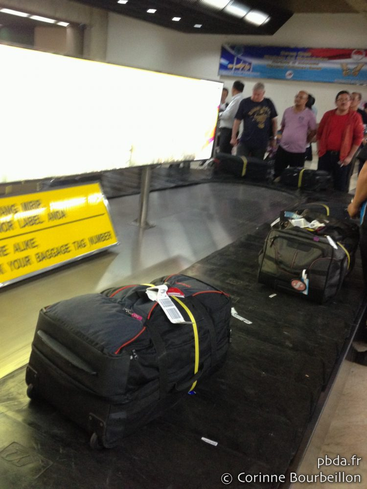 My bag at Jakarta airport. March 2013.