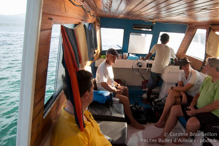 On the boat of Weda Resort. Halmahera, Indonesia. March 2013.