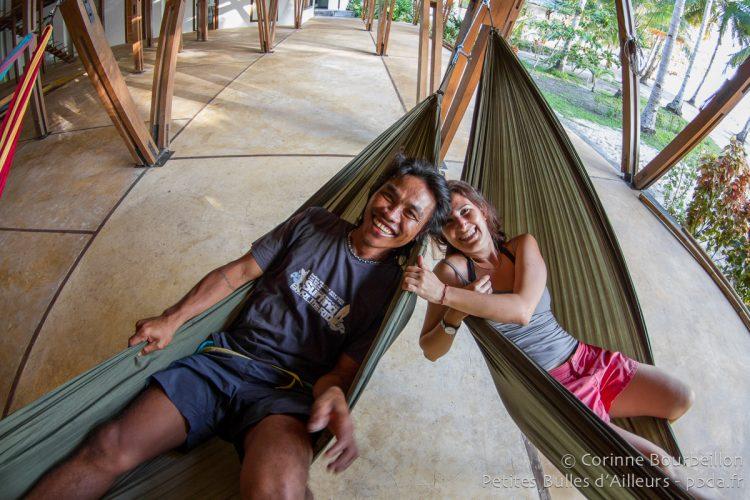 Danny et Clara. Coral Eye, Bangka Island, Sulawesi, Indonésie. Mars 2013.