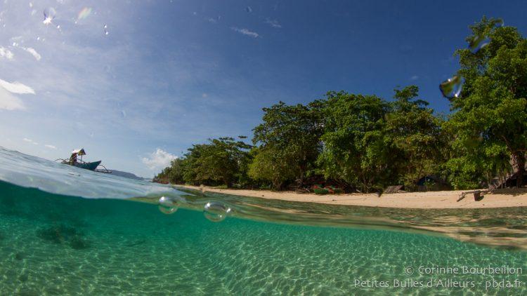 Coral Eye Beach. Bangka Island. North Sulawesi, Indonesia. March 2013.