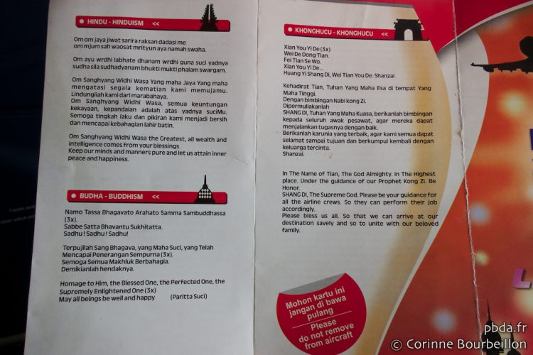 Lion Air Invocation Card. Indonesia, March 2013.