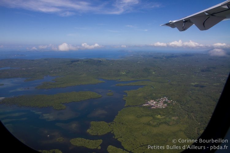 North Sulawesi seen from the sky, from a Lion Air plane. Indonesia, March 2013.