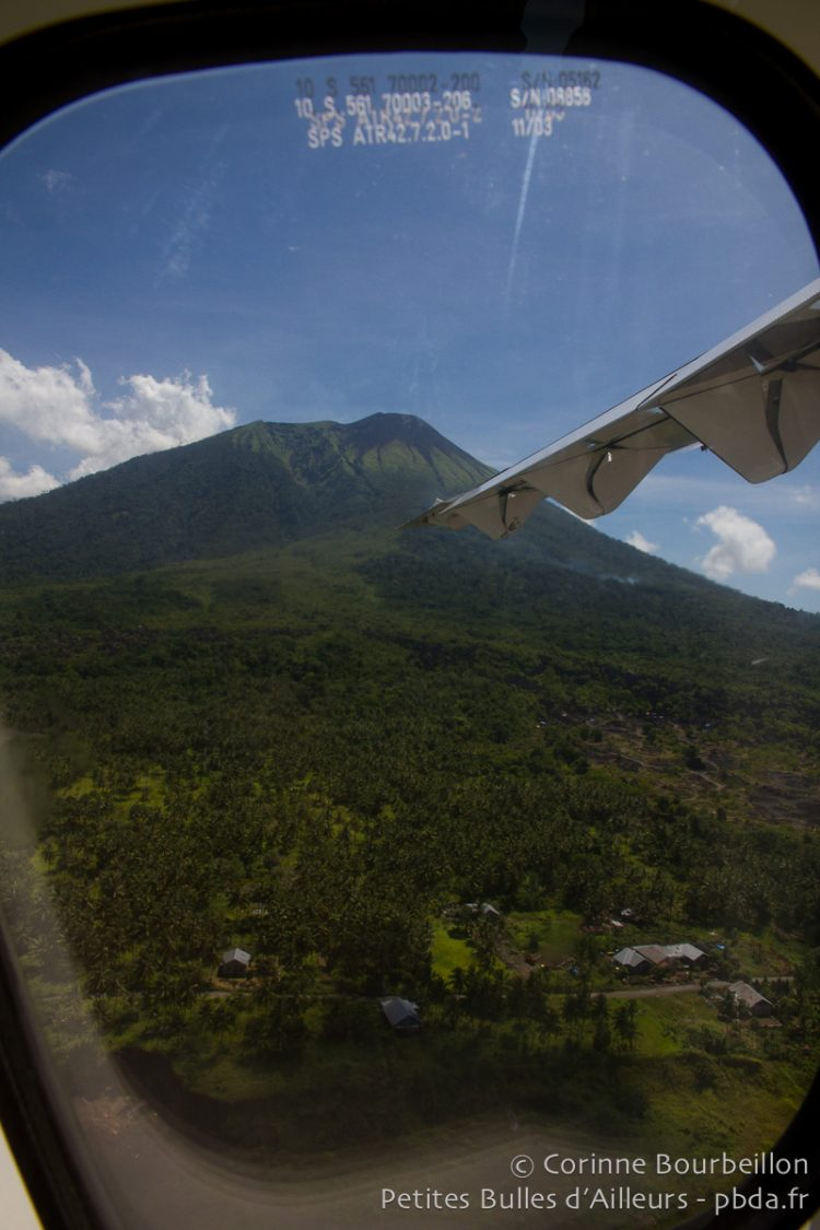 The Ternate volcano, seen from a Lion Air plane. Indonesia, March 2013.
