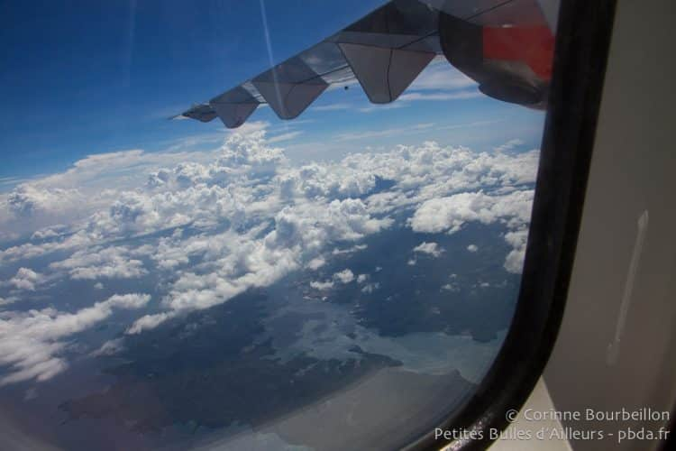 View of the porthole in a Lion Air plane. Indonesia, March 2013.