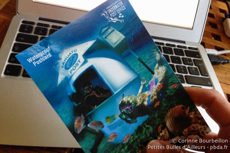 Au Vanuatu, il y a un bureau de poste sous-marin ! Incroyable... Merci, Didier !