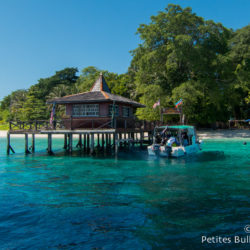 The pontoon of Sipadan. Borneo, Malaysia, July 2013.