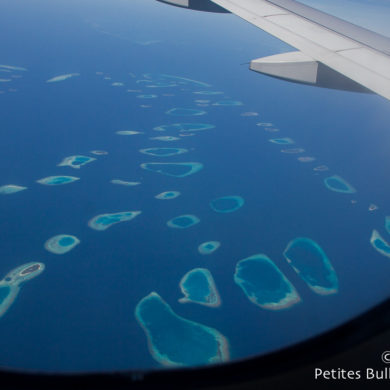 Maldives seen from the sky. February 2014.