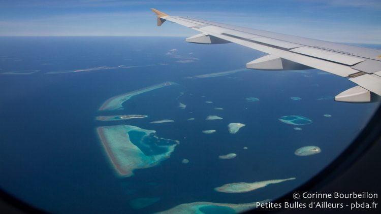 Les Maldives vues du ciel. Février 2014.