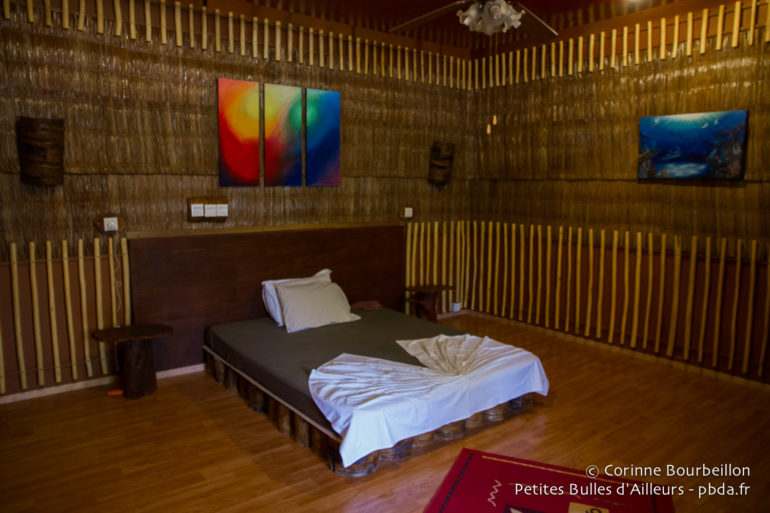 Ma chambre à Asseyri Inn, à Hanimaadhoo.