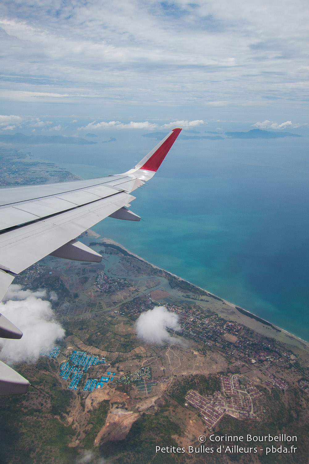 Banda Aceh from the sky.