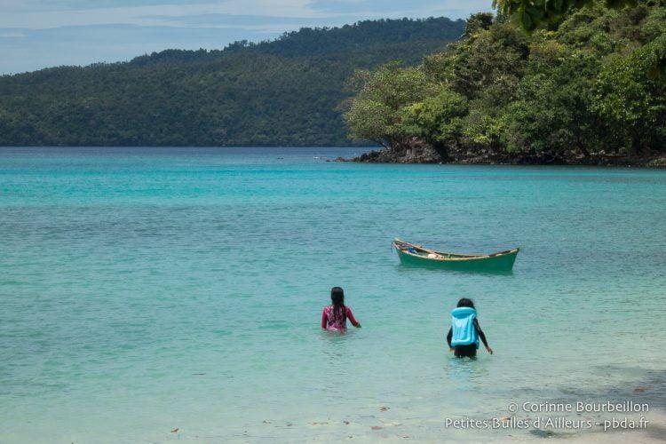 Gapang Beach, Pulau Weh. Banda Aceh, Indonésie, mai 2014.