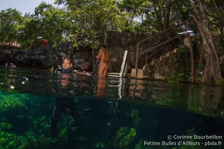 Cenote Ponderosa ou Jardín del Edén. Mexique, juillet 2014.