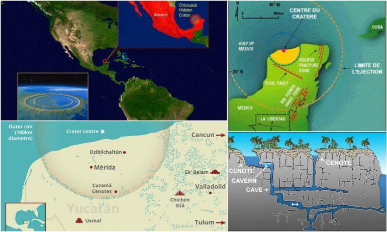 Les cénotes du Yucatán seraient nés de l'impact d'une météorite. [Sources : Dailymail.co.uk / Secretebase.free.fr / Timwilko.com / Mayantreasure.net]