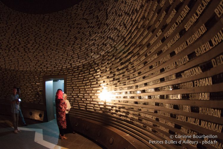 The names of the victims, at the tsunami museum. Banda Aceh, Sumatra, Indonesia. December 2014.