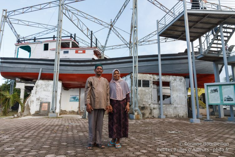 The boat on the rooftops of Lampulo. Aceh, Sumatra, Indonesia. December 2014.