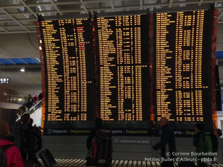 Gare TGV de l'aéroport Roissy-Charles-de-Gaulle. Janvier 2015.