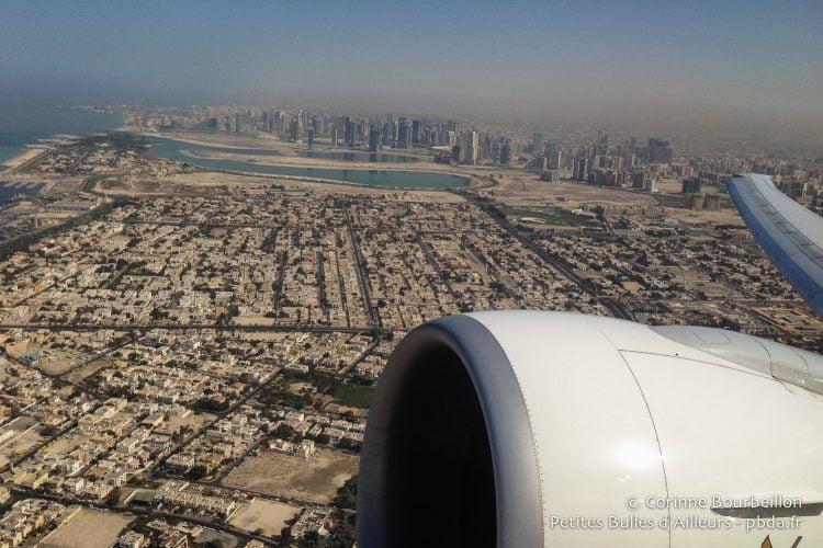 Takeoff above Dubai. January 2015.