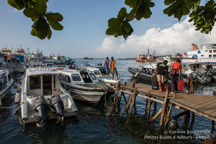Sorong pier. West Papua, Indonesia, January 2015.