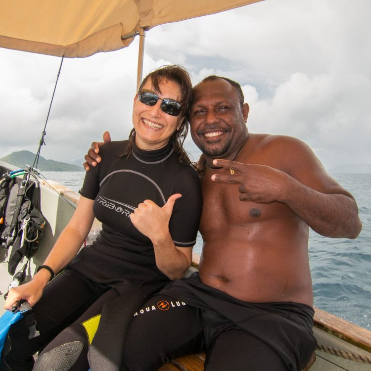 With Otto on the Papua Diving boat. Raja Ampat, Indonesia, January 2015.