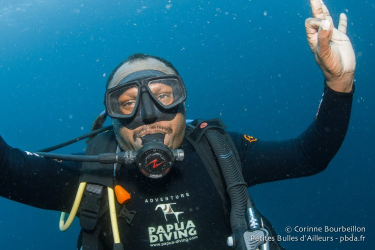 End of dive with Otto. Raja Ampat, Indonesia, January 2015.