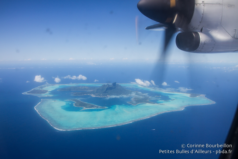 Bora Bora vue du ciel. Polynésie, octobre 2012.