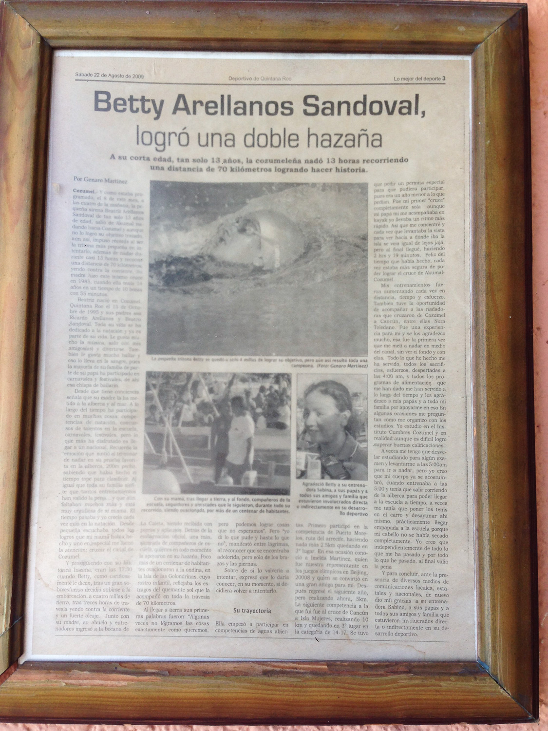Article on the exploit attempted by Betty Arellanos Sandoval, Sergio's granddaughter.