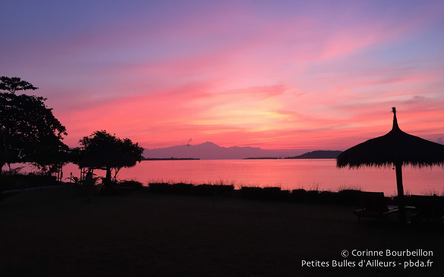 Sunset on Gili Asahan. Lombok, Indonesia, July 2015.