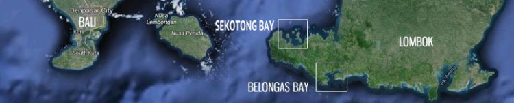 Map of Sekotong and Belongas. Lombok.