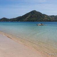 Pangsing Beach. Belongas Bay, Lombok, Indonésie, juillet 2015.