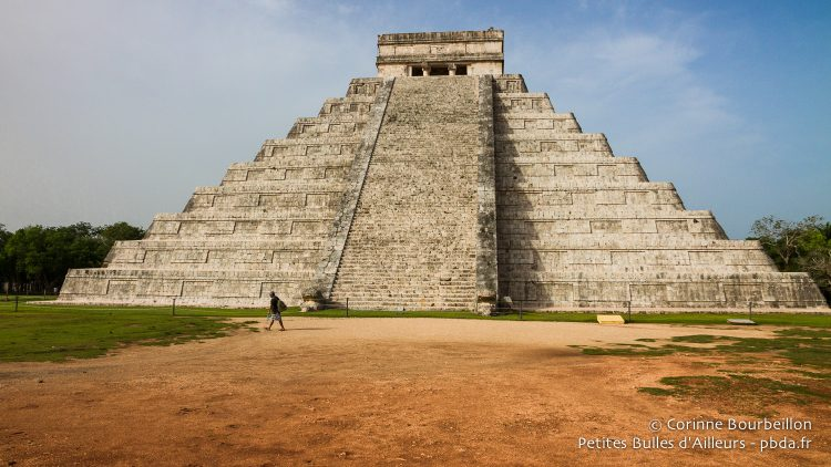 The great pyramid of Chichen Itza, just for me! Yucatán, Mexico, July 2014.
